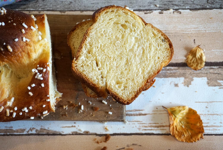 Pan brioches alla vaniglia fette