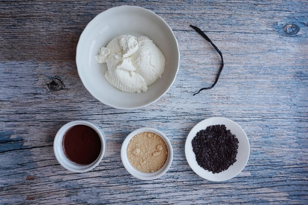 Ricotta dolce al cacao: ingredienti