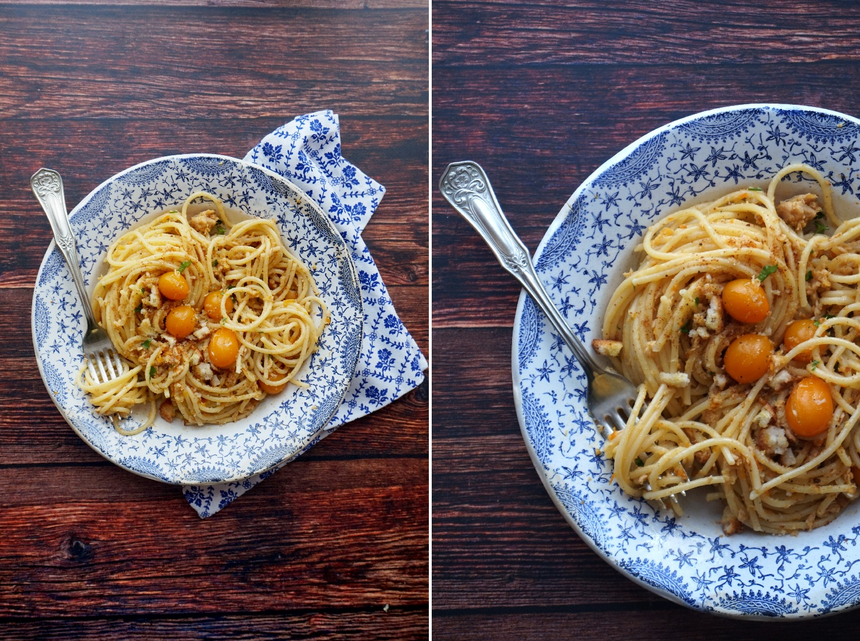 Spaghetti con tonno e bottarga