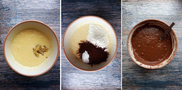 Banana bread al cioccolato preparazione