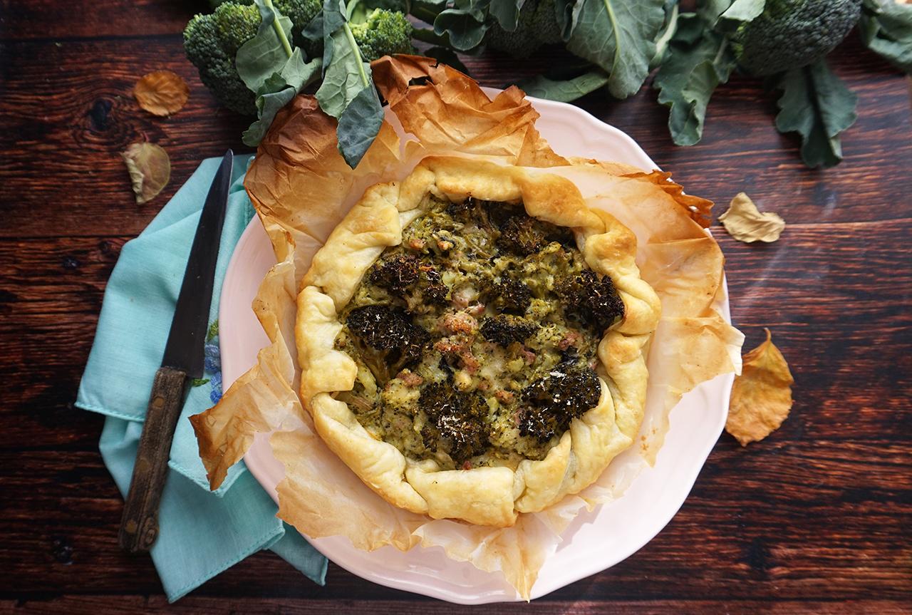 tortino broccoli e salsiccia