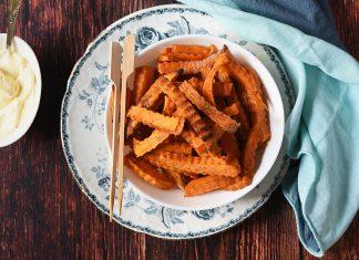 Stick di patate dolci al forno